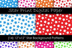 Star Backgrounds in Multi-Color - Star Patterns Product Image 1
