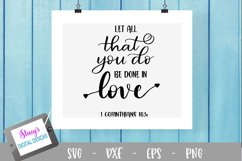 Let all that you do be done in love SVG Product Image 2