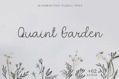 Quaint Garden Floral Font EXTRAS Product Image 1