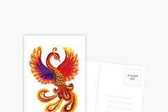 Art flaming mythical Phoenix bird Product Image 4