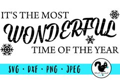 It's the Most Wonderful Time of the Year SVG with Snowflakes Product Image 1