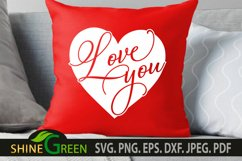 Valentines Day SVG - Love You Heart, Couple Gift Idea Product Image 3