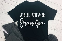 All Star Grandpa Cut File - SVG & PNG Product Image 1