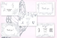 Card templates and floral illustrations in silver Product Image 2