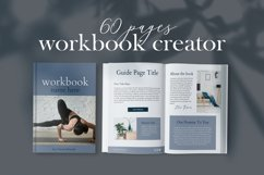 Workbook Canva Template, 60 Pages Ebook Template Lead Magnet Product Image 1