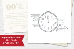 technology clock, vector Product Image 1