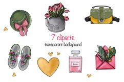Spring clipart elements png on transparent background Product Image 1