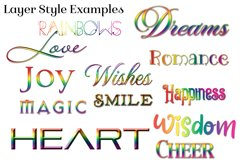Rainbow Layer Styles - Set of 30 Styles for Photoshop Product Image 3