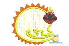 A Dinosaur In Lineart With Colors Applique Product Image 2