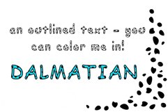 Dalmatian: A Spotted Font Product Image 2