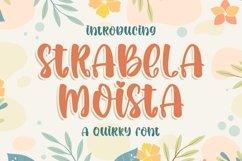 Strabela Moista - a Quirky Font Product Image 1
