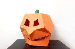 DIY Pumpkin Mask - 3d papercraft Product Image 2
