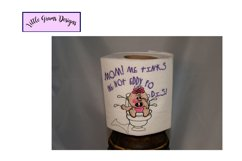 Baby Toilet Paper Embroidery Designs Boy Girl Product Image 2