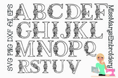 Spring Flower Letters SVG Cutting File PNG DXF AI EPS Product Image 2