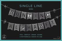 Flag banner SVG BUNTING ALPHABET   single line foil sketch Product Image 1