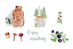 Forest Animals Clipart, Woodland Creatures, Fox, Bear, Owl Product Image 3