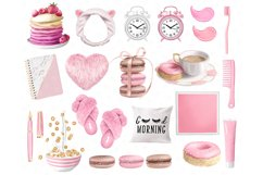 Morning clipart, fashion illustrations, morning routine plan Product Image 4