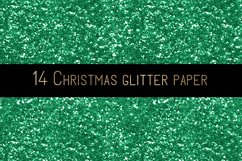 Christmas glitter digital paper Product Image 5