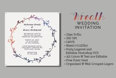 Wreath Wedding Invitation Product Image 1