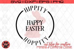 Hippity Hoppity Happy Easter | Bunny SVG Cut File Product Image 2