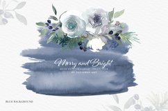 Christmas Watercolor Floral Clipart Collection Product Image 5