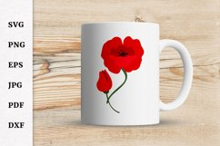 Remembrance Day Poppy Flower SVG Design Cut file Product Image 3