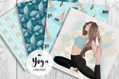 YOGA Digital Paper Pack - Pattern Fashion Illustration Product Image 10