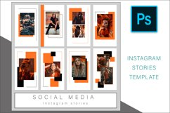 Orange Instagram Stories Photoshop Template Post Product Image 2
