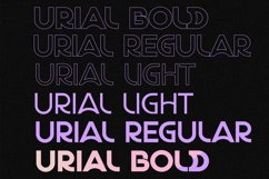 URIAL Sans Font Product Image 5