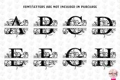 Floral Split Monogram - Alphabets A to Z - EPS SVG DXF JPG Product Image 2