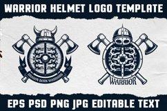 Warrior Viking Helmet Logo Template Product Image 5