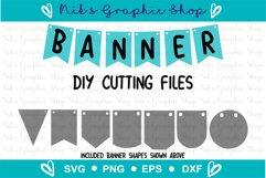 Banner Svg, Bunting Banner Svg, Banner Cut Files, Flag Svg Product Image 1