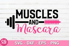 Muscles and mascara SVG Product Image 1