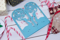 Christmas Reindeer Invitation cutting file Product Image 1