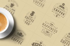 Coffee Quotes and Phrases set Product Image 4