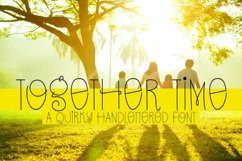 Web Font Together Time - A Quirky Handlettered Font Product Image 1