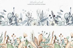 Winter plants watercolor collectoin Product Image 11