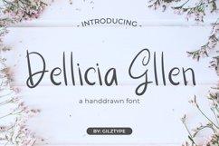 Dellicia Gllen - A Handrawn Font Product Image 1