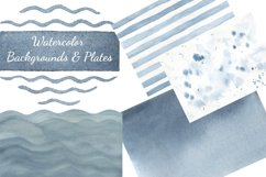 Sea dreams. Nautical watercolor set. Sea Clipart Collection Product Image 3