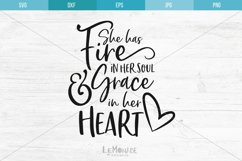 She Has Fire In Her Soul SVG, Grace In Her Heart SVG Product Image 2