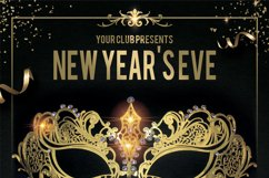 Masquerade Mardi Gras Carnival New Year Flyer Product Image 2