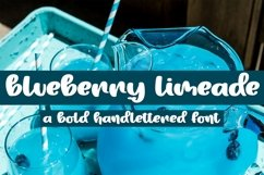 Web Font Blueberry Limeade - A Bold Handlettered Font Product Image 1