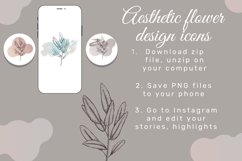 Pastel color Flower instagram highlight icons, aesthetic Product Image 5