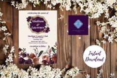 Plum and Beige Autumn Wedding Invitation Product Image 2