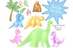 Watercolor Dinosaur Clipart, Sublimation PNG, Transparent Product Image 3