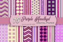 Purple Amethyst Digital Paper Pack Product Image 1