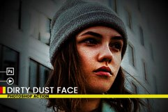 Dirty Dust Face Photoshop Actions Product Image 3
