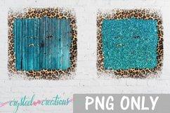 Sublimation Brick Wood Glitter Leopard Bundle Sublimation Product Image 5