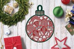 Christmas SVG Multi Layer Ornament | Mandala SVG 3D Layered Product Image 6