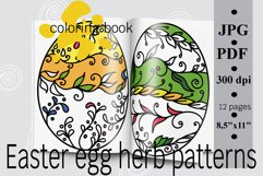 Easter egg herb patterns coloring book PDF printable Product Image 1